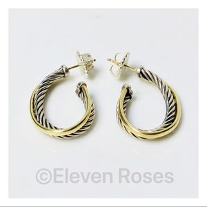 David Yurman Cable Crossover Hoop Earrings